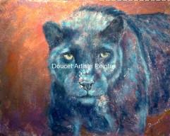Panthera 24 x 36 acrylique, Prix coup de coeur du public, Galerie Dosha