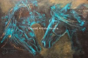 Black and blue III 36 x 24 acrylique