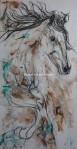 Storm 48x24 fusain et acrylique